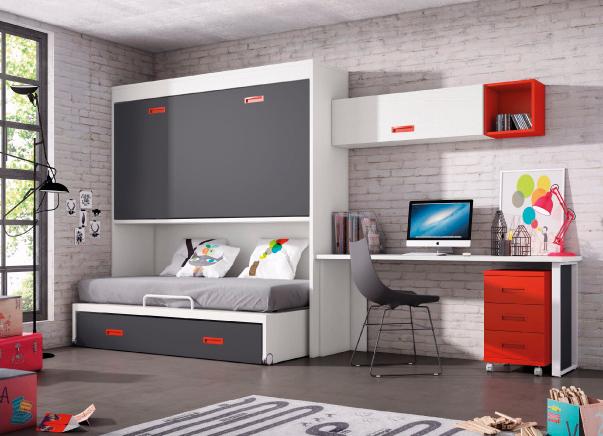 juvenil-habitacion-rojo