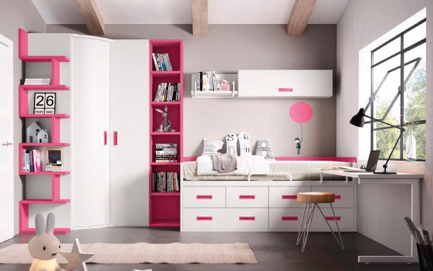 juvenil-habitacion-rosa